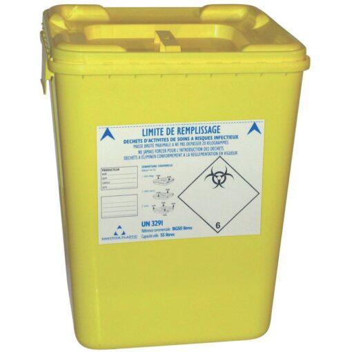 10 recipientes de plásticos para desechos biológicos 50 L 1