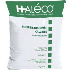 """Tierra de diatomea calcinada """"Damolin"""", absorbente en polvo. Saco de 10Kg."""