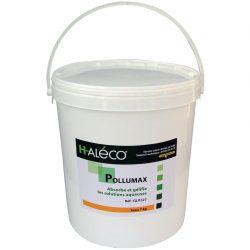 Polvo absorbente gelificante PolluMax para soluciones acuosas. Cubo de 7,3Kg