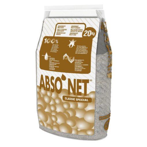 Sepiolita, absorbente universal ABSO´NET CLASSIC SPECIAL. Saco de 20Kg