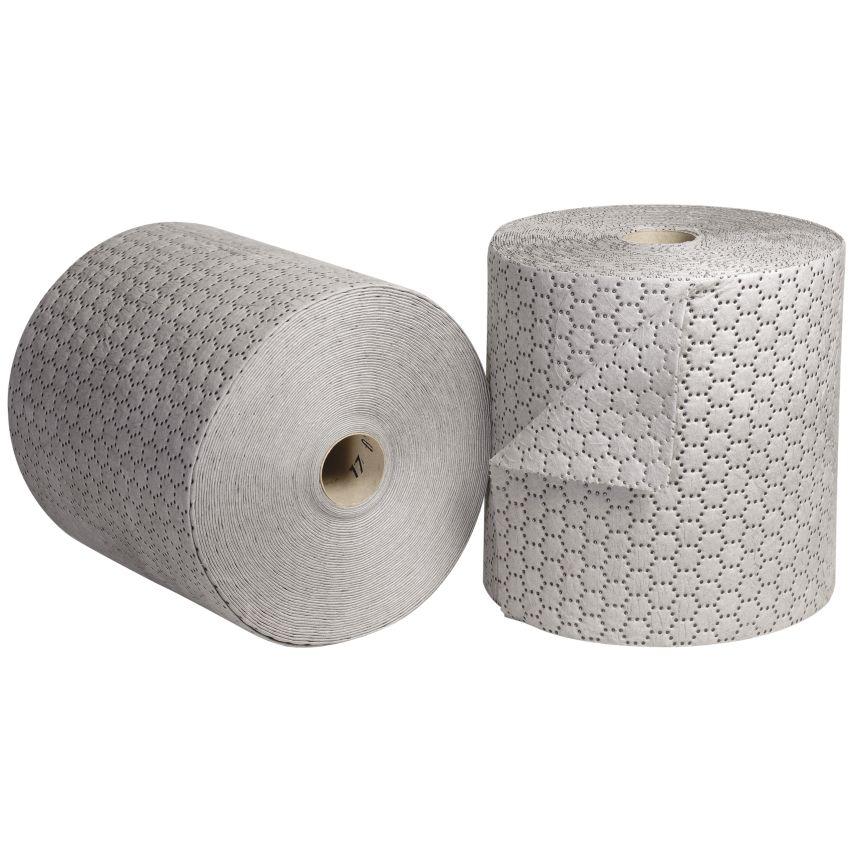 """2 Rollos absorbentes universales """"Premier"""" doble espesor con capa de refuerzo en un lado. 4600 cm x 40 cm"""