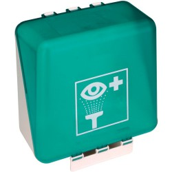 Sistema de colocación Secubox para frascos de enjuague para ojos