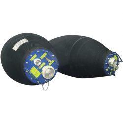 Obturador móvil flexible hinchable gran diámetro con bypass