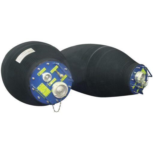 Obturador móvil flexible hinchable gran diámetro con bypass 1