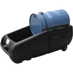 Carro distribuidor polietileno 1 bidón, 250 litros 174 cm x 81,5 cm x 68 cm