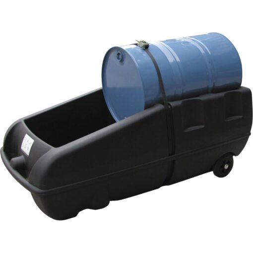 Carro distribuidor polietileno 1 bidón, 250 litros 174 cm x 81,5 cm x 68 cm 1
