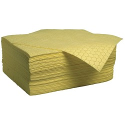 """100 hojas absorbentes productos químicos """"Prim´s"""" doble espesor. La mejor relación calidad-precio. 50 cm x 40 cm"""