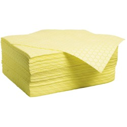 """100 hojas absorbentes productos químicos  """"Uptimum"""" doble espesor con capa de refuerzo en ambos lados. 50 cm x 40 cm"""