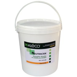 Polvo gelificante NeutrAcide para ácidos. Absorbe y solidifica instantáneamente todos los vertidos de ácidos. Cubo 9,5Kg