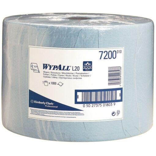 Bobina azul Wypall® L20 para secado corriente, 1000 formatos 1
