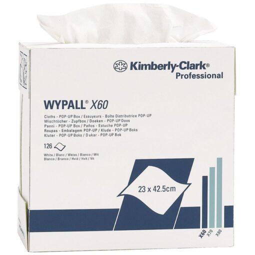 Gamuzas blancas Wypall® X60 para secado corriente 1