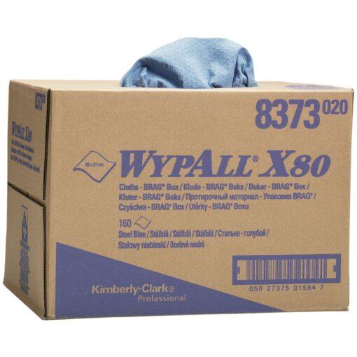 Gamuzas azules Wypall® X80 para secado difícil 1