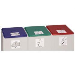 Tapa de plástico color Rojo para recolectores de plástico 60 L