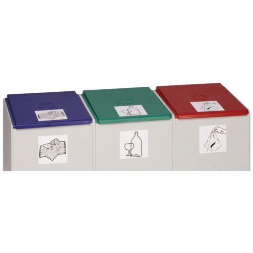 Tapa de plástico color Azul para recolectores de plástico 60 L 1
