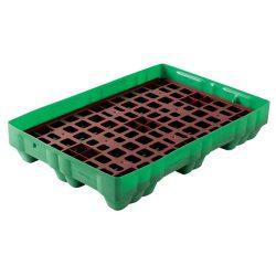 Cubeta de retención polietileno Rétenpack® para bidones, 150 litros 125 cm x 85 cm x 23 cm