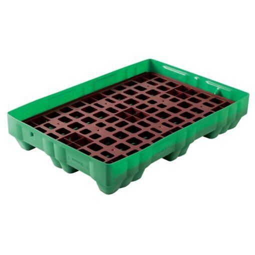 Cubeta de retención polietileno Rétenpack® para bidones, 150 litros 125 cm x 85 cm x 23 cm 1
