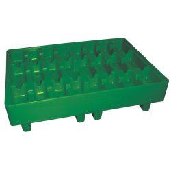 Palet de retención polietileno para bidones, 17 litros 14,5 cm x 14,5 cm x 1,5 cm