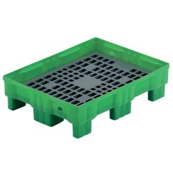 Cubeta de retención polietileno Rétenpack® para bidones, 75 litros 86 cm x 66 cm x 23 cm