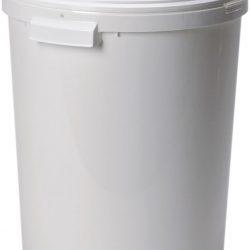 Cubo de plástico con tapa, 27 litros