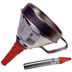 Embudo de lata con tubo
