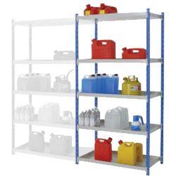 Elemento siguiente para estantería de seguridad de acero barnizado, 135 litros