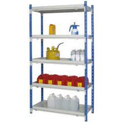 Estantería de seguridad de acero barnizado para cargas semipesadas, 90 litros