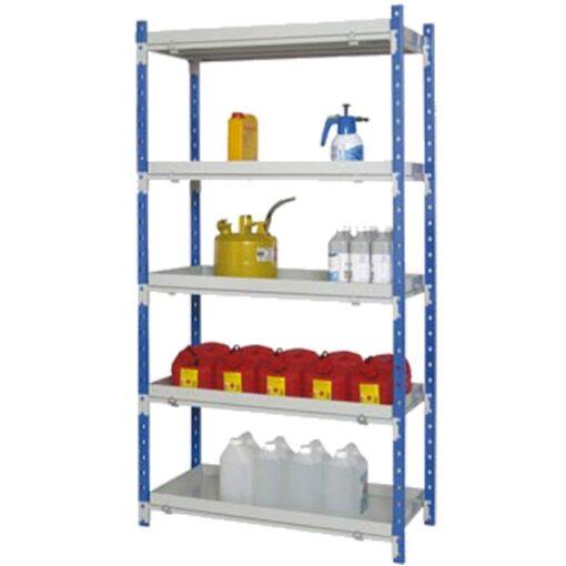 Estantería de seguridad de acero barnizado para cargas semipesadas, 90 litros 1