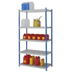 Estantería de seguridad de acero barnizado para cargas ligeras, 105 litros