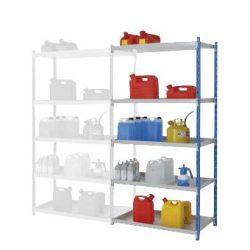Elemento siguiente para estantería de seguridad de acero barnizado, 115 litros