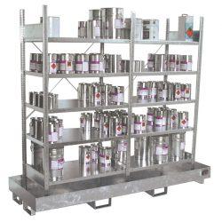 Estantería de retención de acero galvanizado para cargas ligeras, 220 litros 240 cm x 80 cm x 200 cm