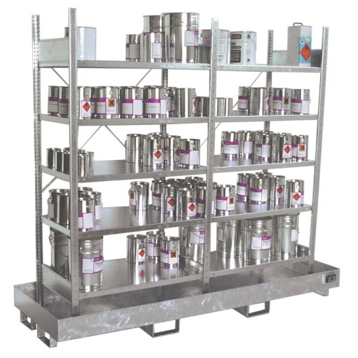 Estantería de retención de acero galvanizado para cargas ligeras, 220 litros 240 cm x 80 cm x 200 cm 1