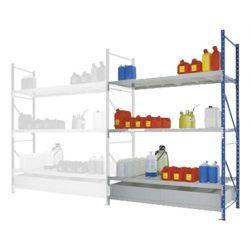 Elemento siguiente para estantería de retención de acero barnizado, 220 litros 180 cm x 80 cm x 200 cm