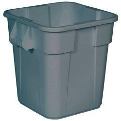 BRUTE Contenedor de plástico color Gris cuadrado multiuso, 151 L,  60 cm x 60 cm x 73 cm
