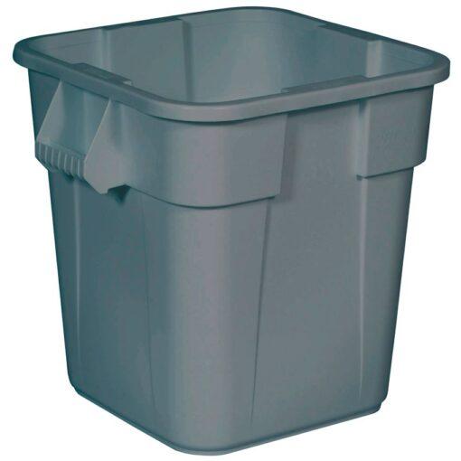 BRUTE Contenedor de plástico color Gris cuadrado multiuso, 106 L,  55 cm x 55 cm x 57 cm 1
