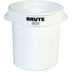 BRUTE Papelera de plástico color Blanco redonda, 38 L,  Ø40 cm x 43,5 cm