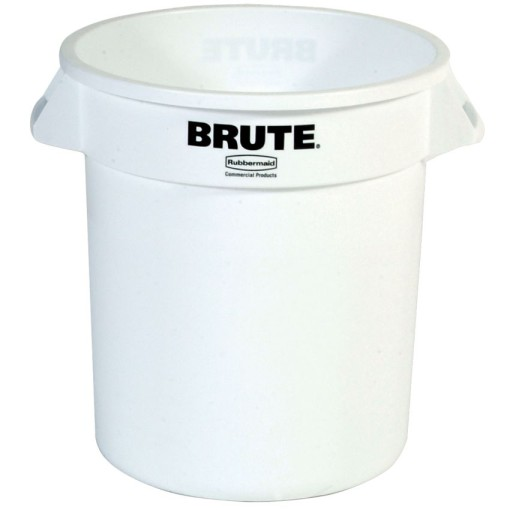 BRUTE Papelera de plástico color Blanco redonda, 38 L,  Ø40 cm x 43,5 cm 1