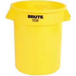BRUTE Papelera de plástico color Amarillo redonda, 76 L,   Ø49,5 cm x 58 cm