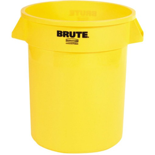 BRUTE Papelera de plástico color Amarillo redonda, 76 L,   Ø49,5 cm x 58 cm 1