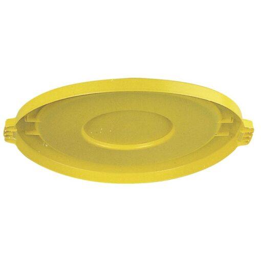 BRUTE Tapa llana color Amarillo para papelera 76 L , Ø50,5 cm x 3 cm 1