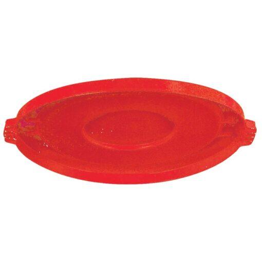 BRUTE Tapa llana color Rojo para papelera 121 L Ø56,5 cm x 3,5 cm 1