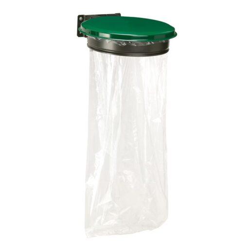 Soporte de bolsa mural con tapa de acero, 110L
