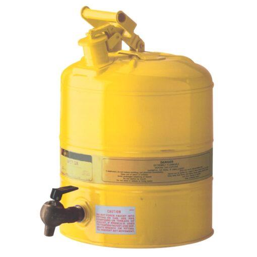 Bidón de seguridad con grifo para productos inflamables 1