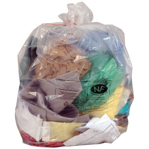 200 bolsas de recuperación NF transparentes, 130 L 1