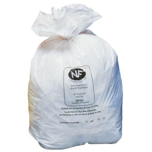 250 bolsas de recuperación NF blancas, 110 L 1