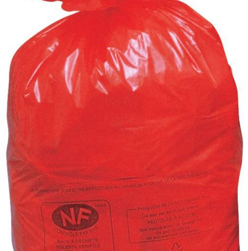 500 bolsas de recuperación NF rojas, 50 L 1