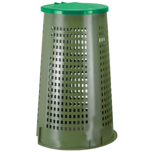 Soporte de bolsa de plástico perforado sobre pie con tapa, 110 L 1