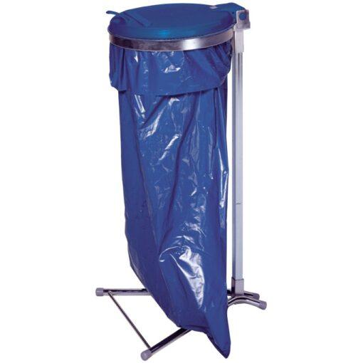 Soporte de bolsa sobre pie con tapa de plástico, 110 L 1