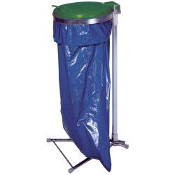 Soporte de bolsa sobre pie con tapa de plástico, 110 L