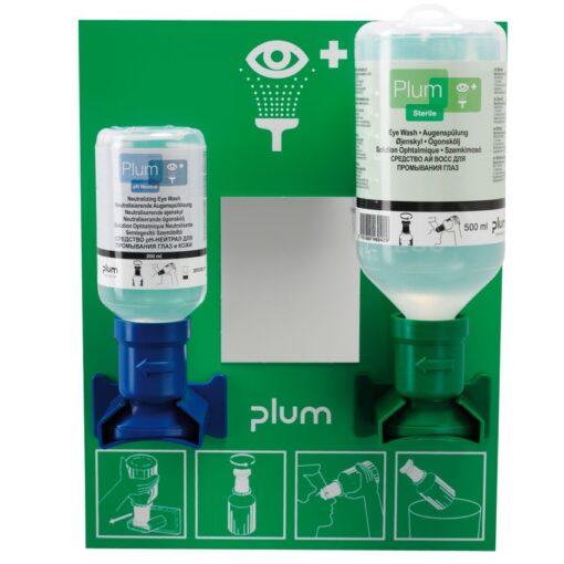 Estación mural autónoma pH Neutral para los ojos, 2 frascos 1