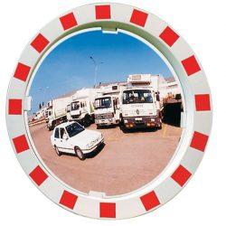 Espejo industria interior/exterior con marco, Ø 960 mm